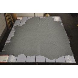 Gray Upholstery Cow Hide Leather Skin / Furniture  D2BN
