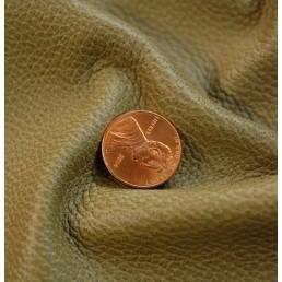 E58 Soft Khaki Green Furniture Upholstery Leather Cow Hide Skin