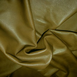 E46V Khaki Green Cow Hide Upholstery Leather Hide Skin furniture / chaps