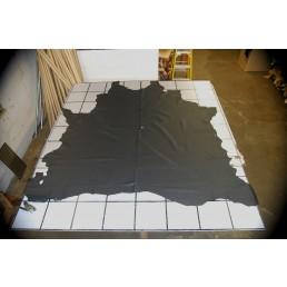 VERY DARK BLUE UPHOLSTERY COW HIDE LEATHER SKIN e56