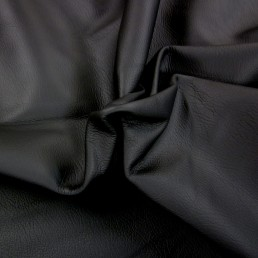 Black Furniture Upholstery Leather HIde Skin