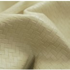 Y08 Beige Stone Woven Print Upholstery Cow Hide Leather Skin ( 3 PCS TOTALING 57SF)