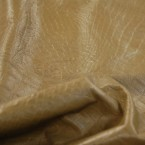E98 Tan Alligator Crocodile Imprint Cow Hide Upholstery Leather