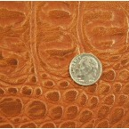 C3A Brown Copper Tipping Alligator Embossed Cow Townsend Leather